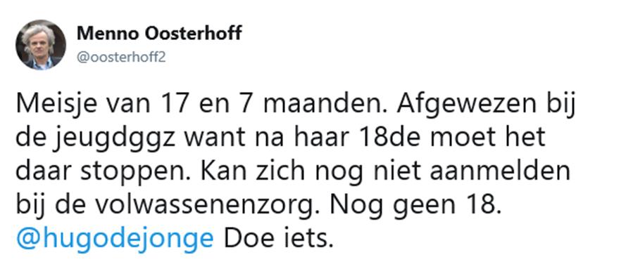 Oosterhoff tweet meisje net geen 18