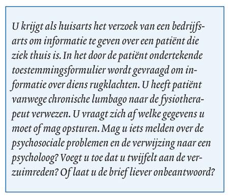voorbeeldbrief opvragen gegevens O jee, een brief van de bedrijfsarts   medischcontact voorbeeldbrief opvragen gegevens